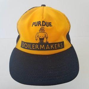 Vintage Accessories - Vtg Purdue Boilermakers Trucker Hat Snapback Cap 42941fac198